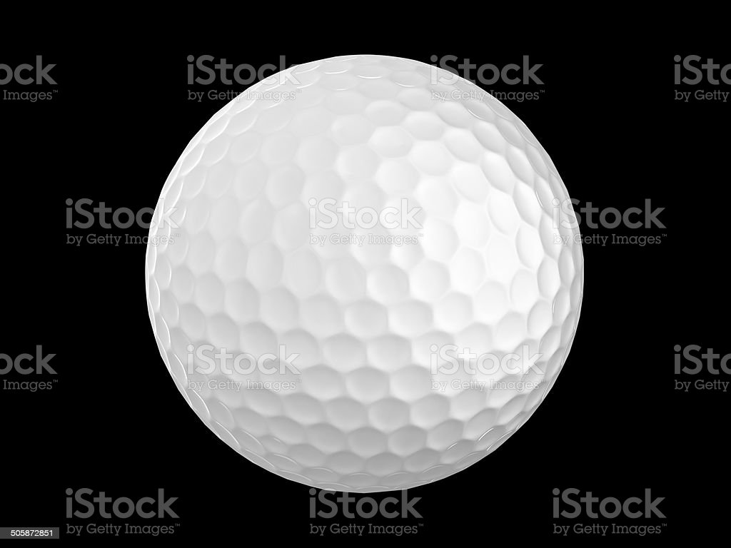 golf ball isolate stock photo