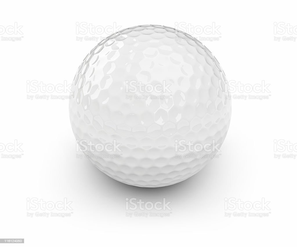Golf ball - isolated on white royalty-free stock photo