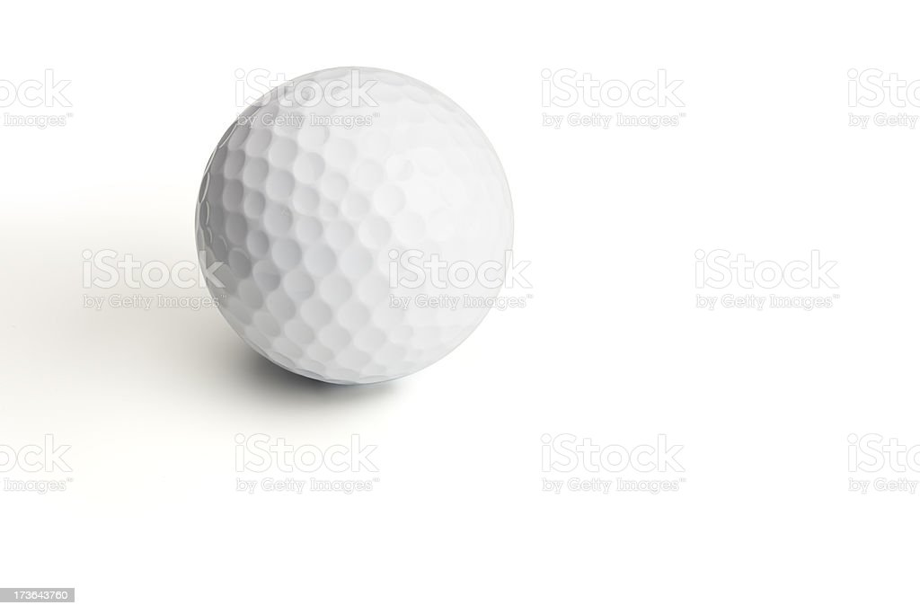 Golf ball isolated on white royalty-free stock photo