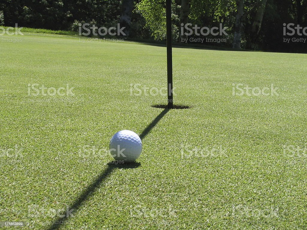 golf ball - lined up to putt 01 royalty-free stock photo