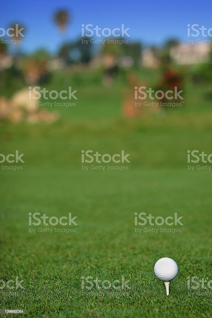 golf ball on a tee royalty-free stock photo