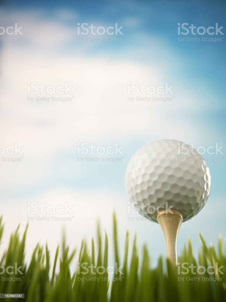 Golf Ball On A Tee stock photo