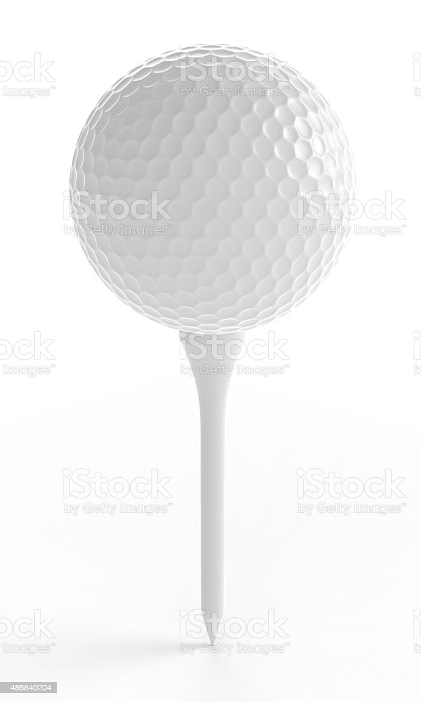 Golf Ball On A Tee stock photo