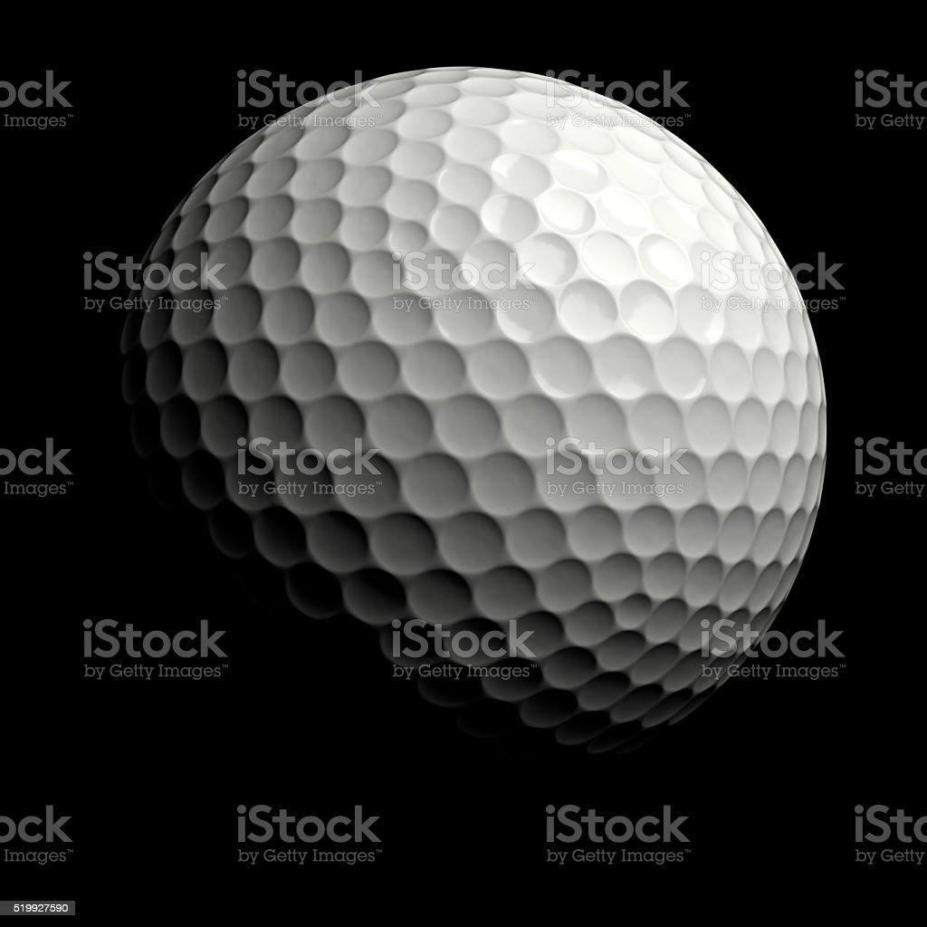 ゴルフボール黒を背景にしたます。クリッピングパスます。 ロイヤリティフリーストックフォト