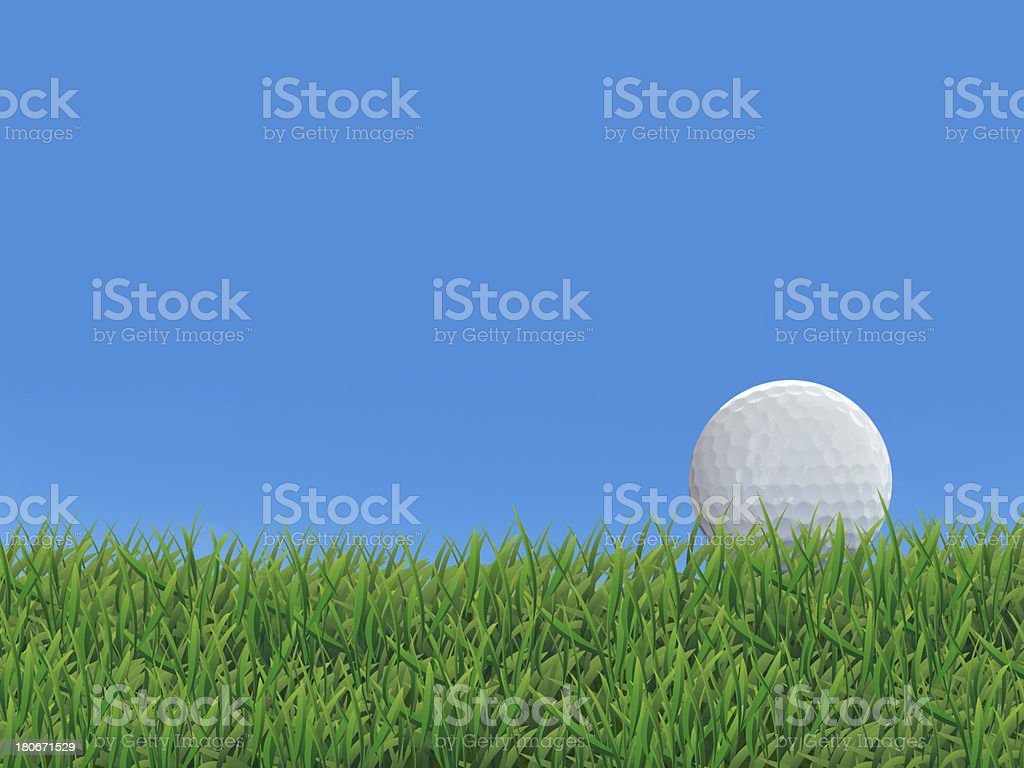 Golf Ball on Grass Court stock photo