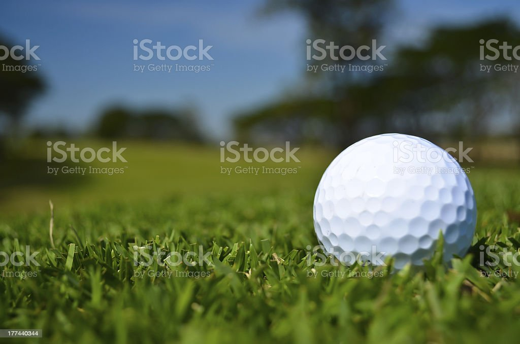 golf ball on green field royalty-free stock photo