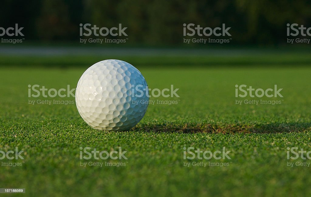 Golf Ball on Green royalty-free stock photo
