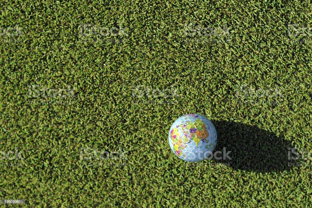 Golf Ball On Green - XLarge stock photo