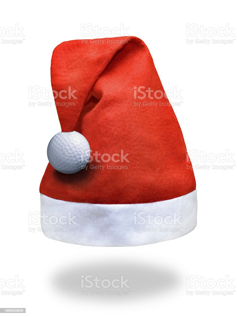 golf ball on santa claus christmas sports hat