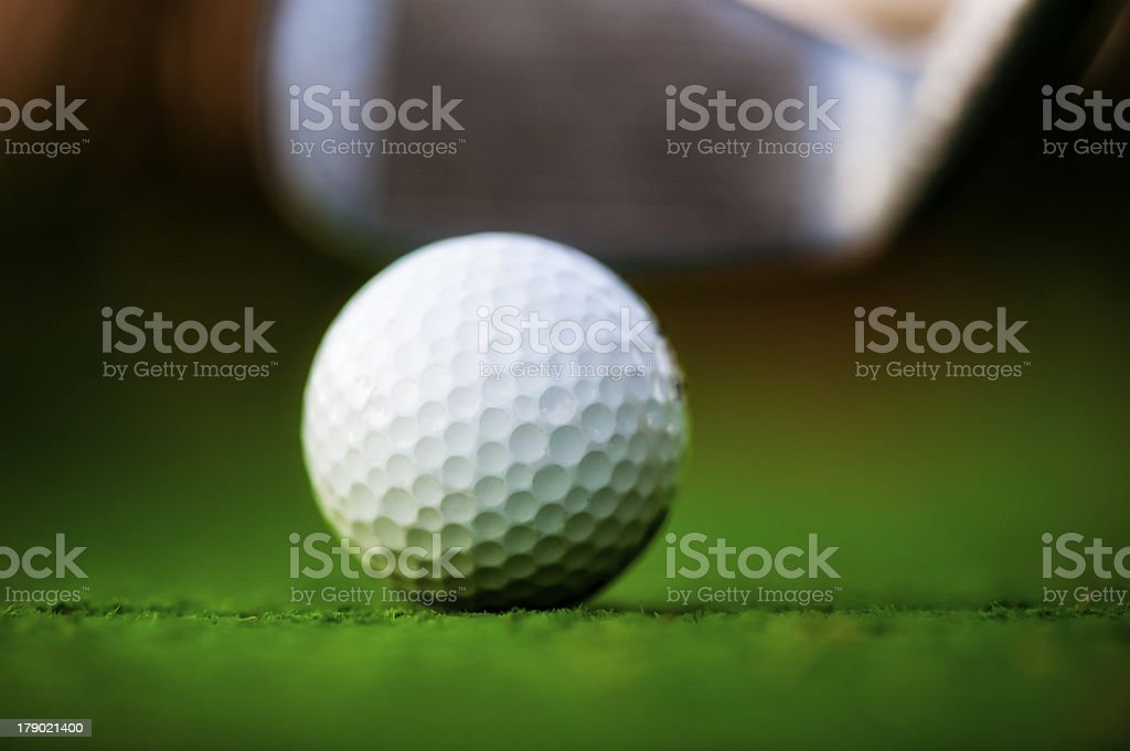 Golf ball on the field. royalty-free stock photo