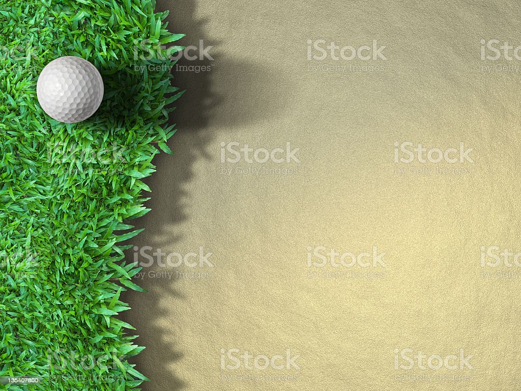 Golf ball on the grass royalty-free stock photo