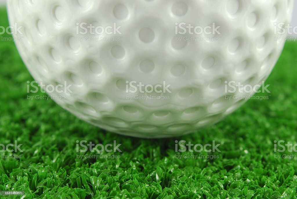 golf ball on the green grass turf royalty-free stock photo