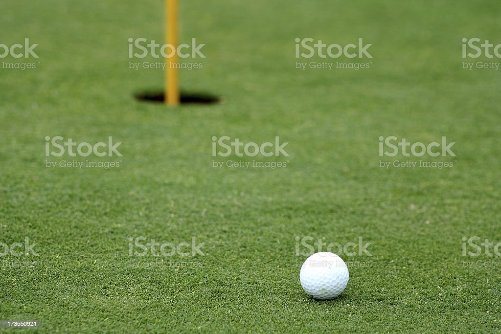 Golf- Ball on the Green stock photo