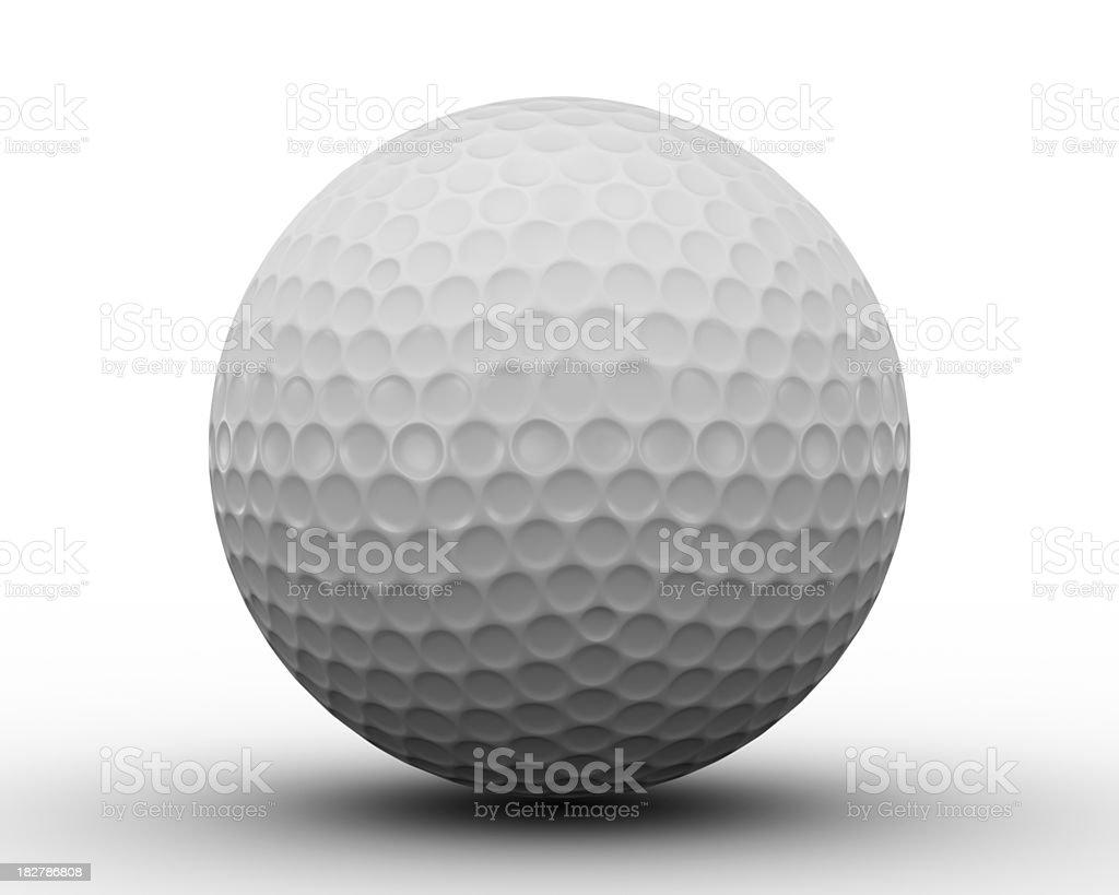 Golf Ball on white stock photo