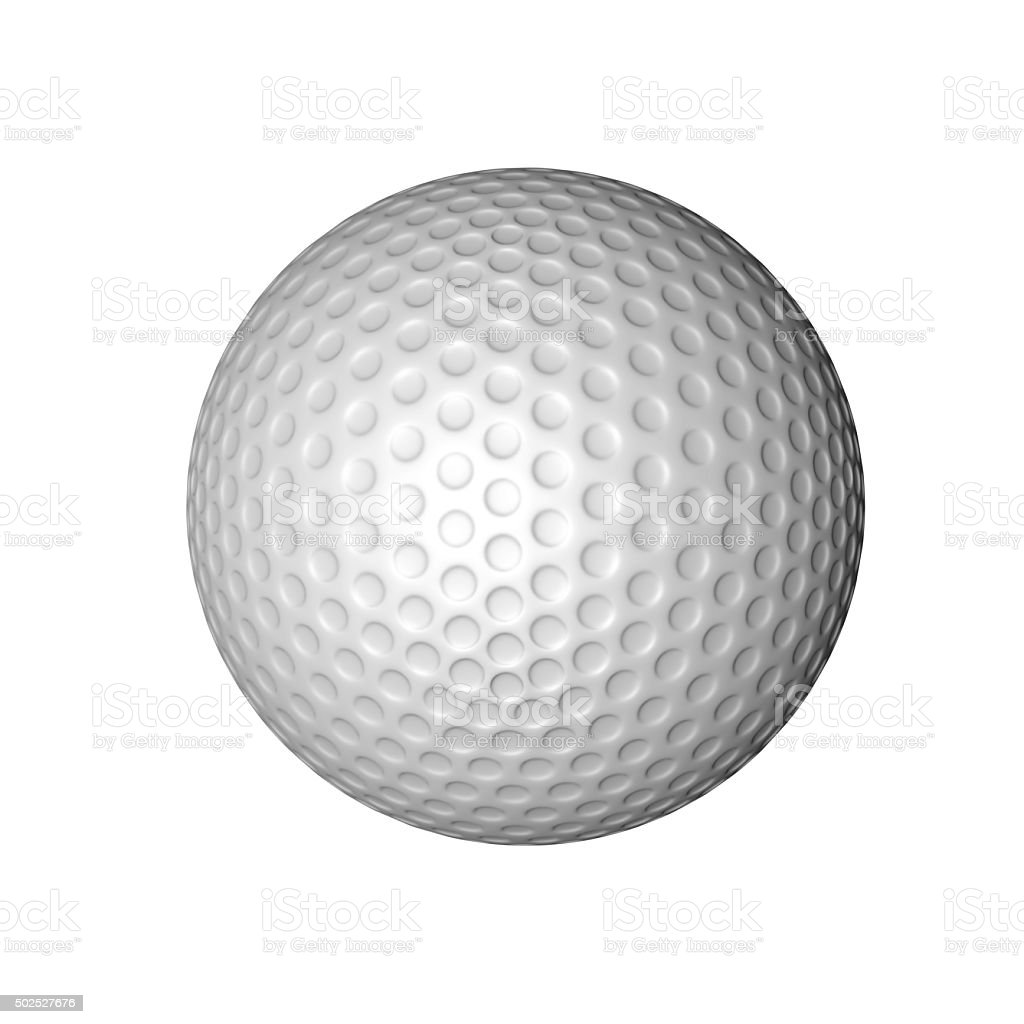 Golf Ball on White stock photo