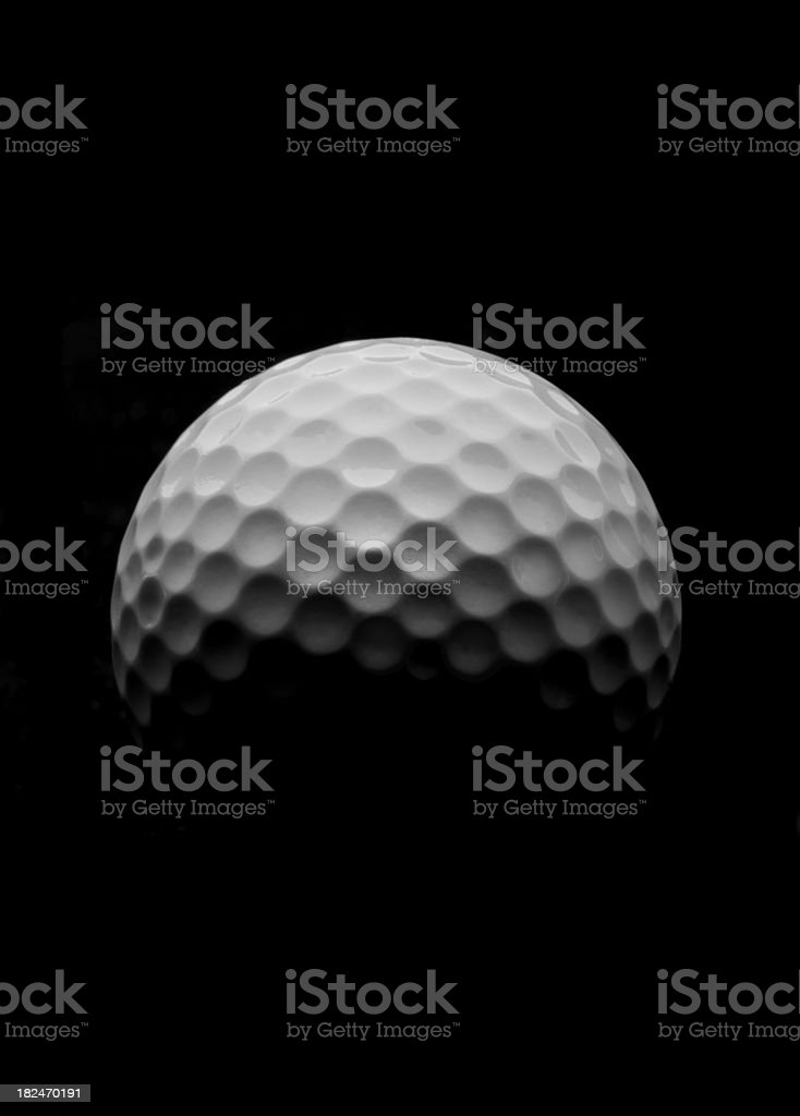 Golf Ball Rising royalty-free stock photo