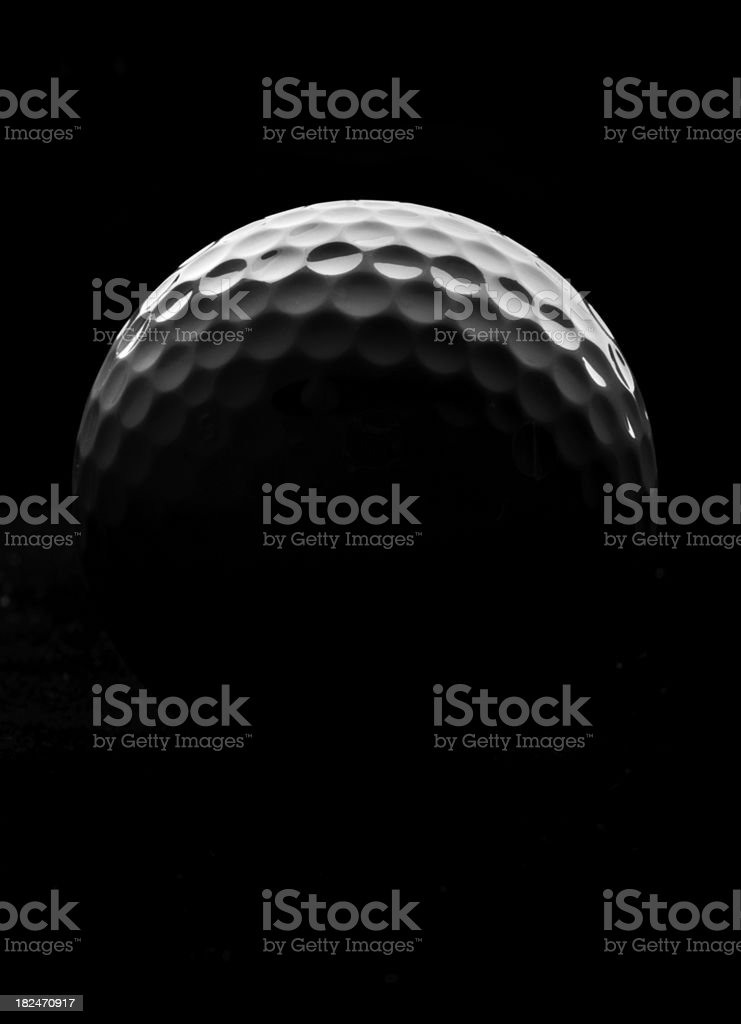 Golf Ball Rising stock photo