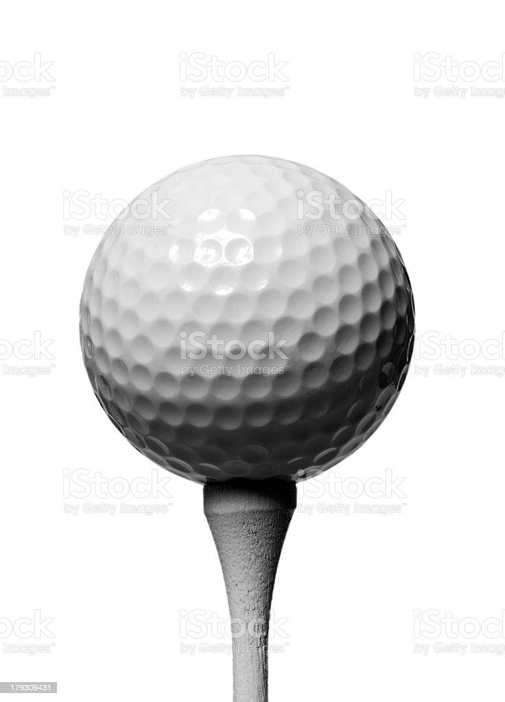 Golf Ball & Tee royalty-free stock photo