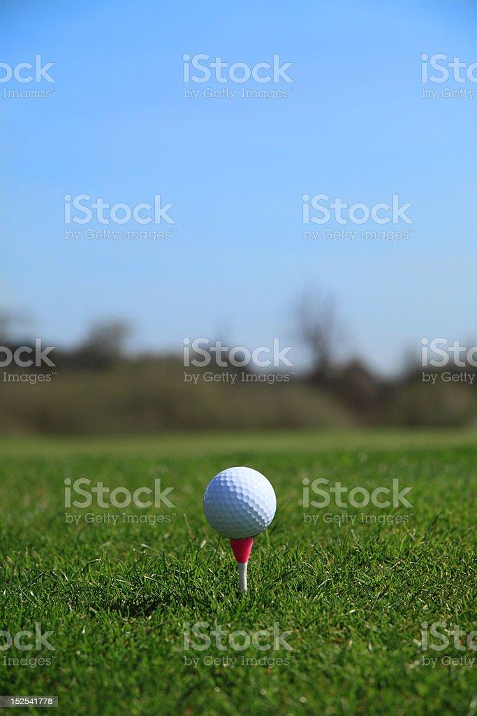 Golf ball tee-off stock photo