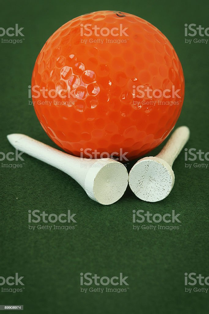 Golf Ball & Tees royalty-free stock photo