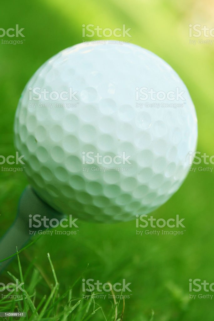 Golf ball with copy space royalty-free stock photo