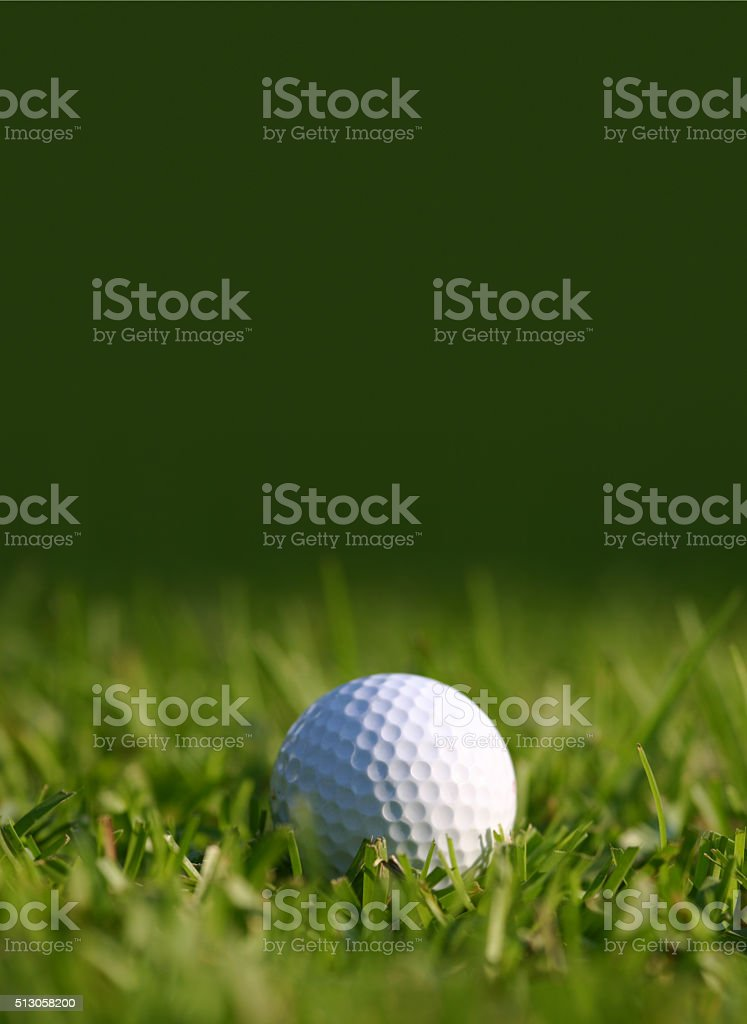Golf Ball with Copy Space stock photo