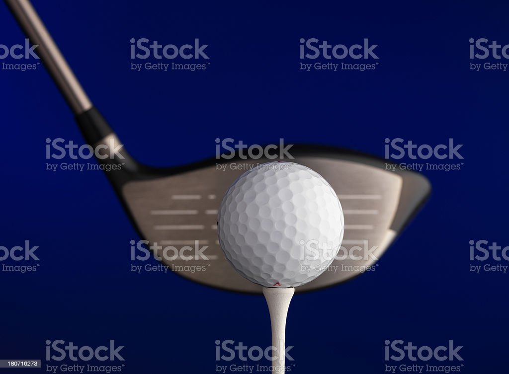 Golf ball with Driver stock photo