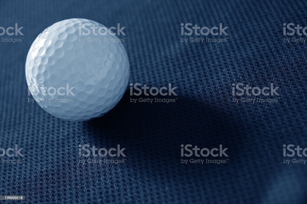 Golf Ball With Shadow (Blue-ish) royalty-free stock photo