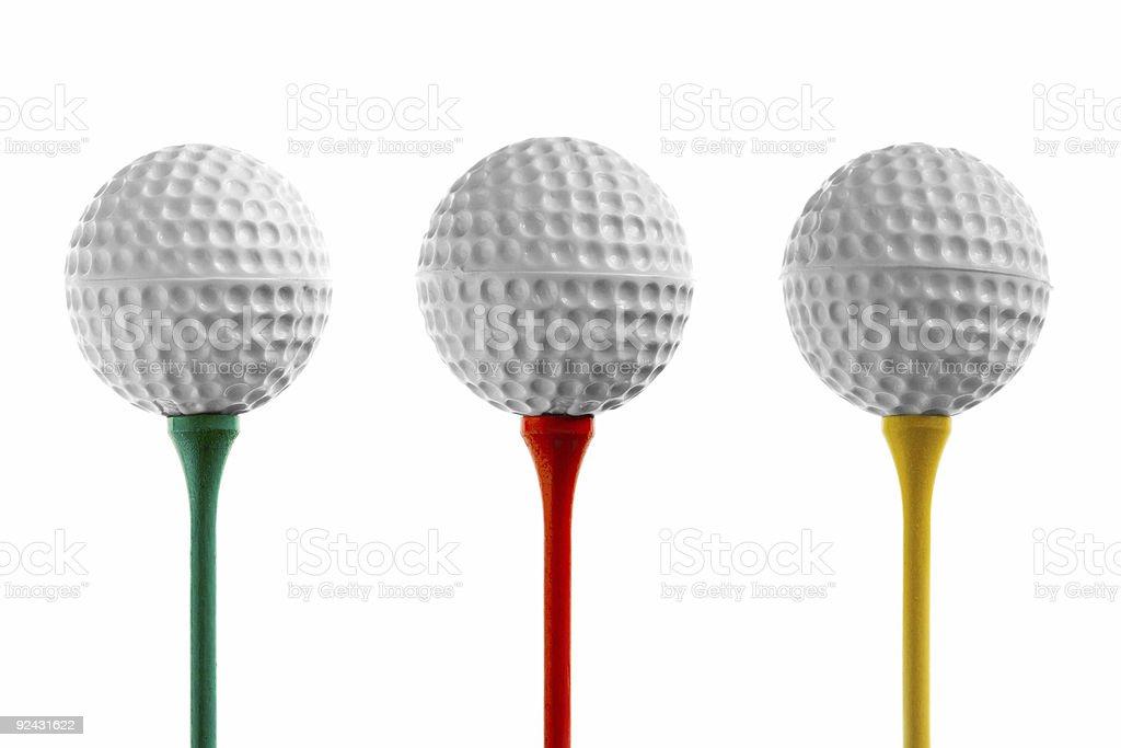 Golf Balls & Tees royalty-free stock photo