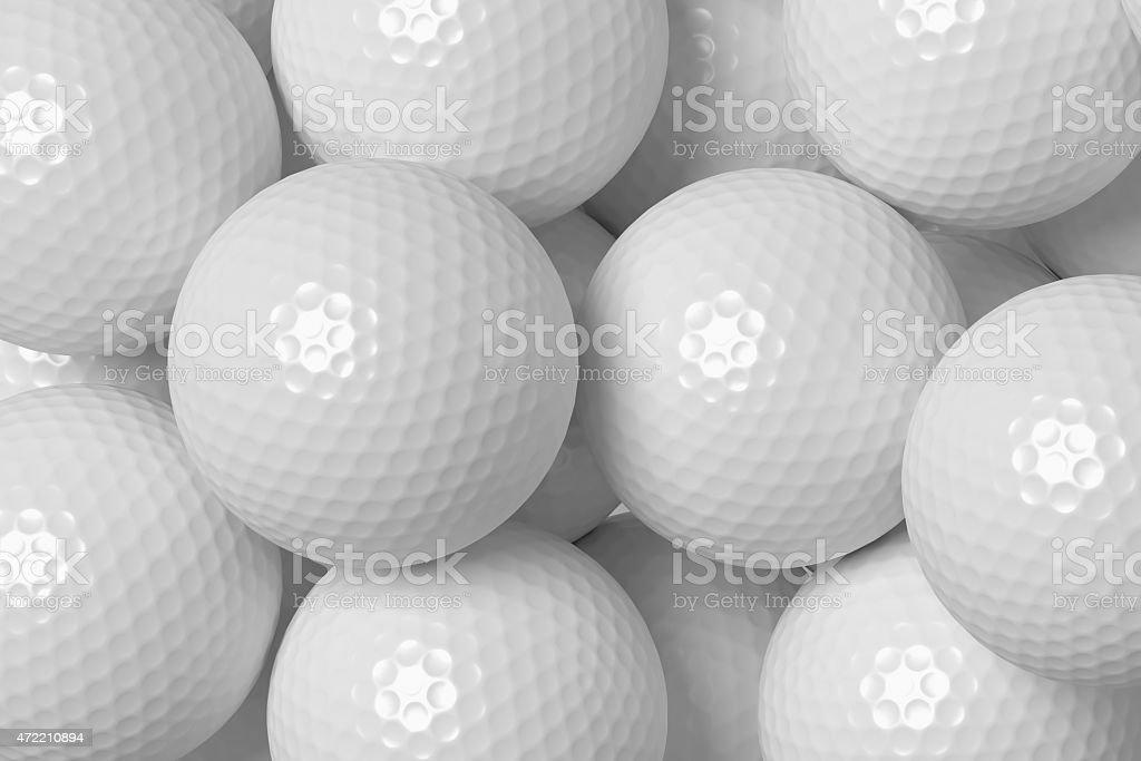 Golf balls background stock photo