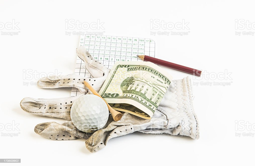 Golf Bet royalty-free stock photo