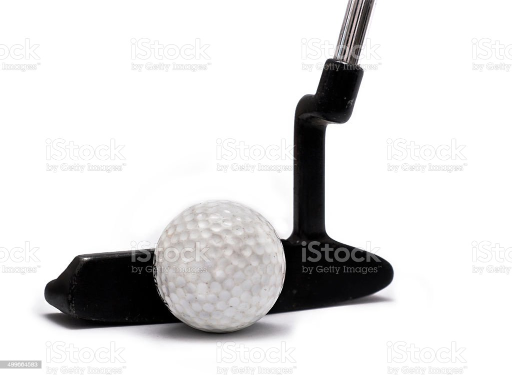 Golf blade Putter on white stock photo
