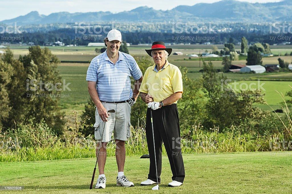 Golf Buddies stock photo