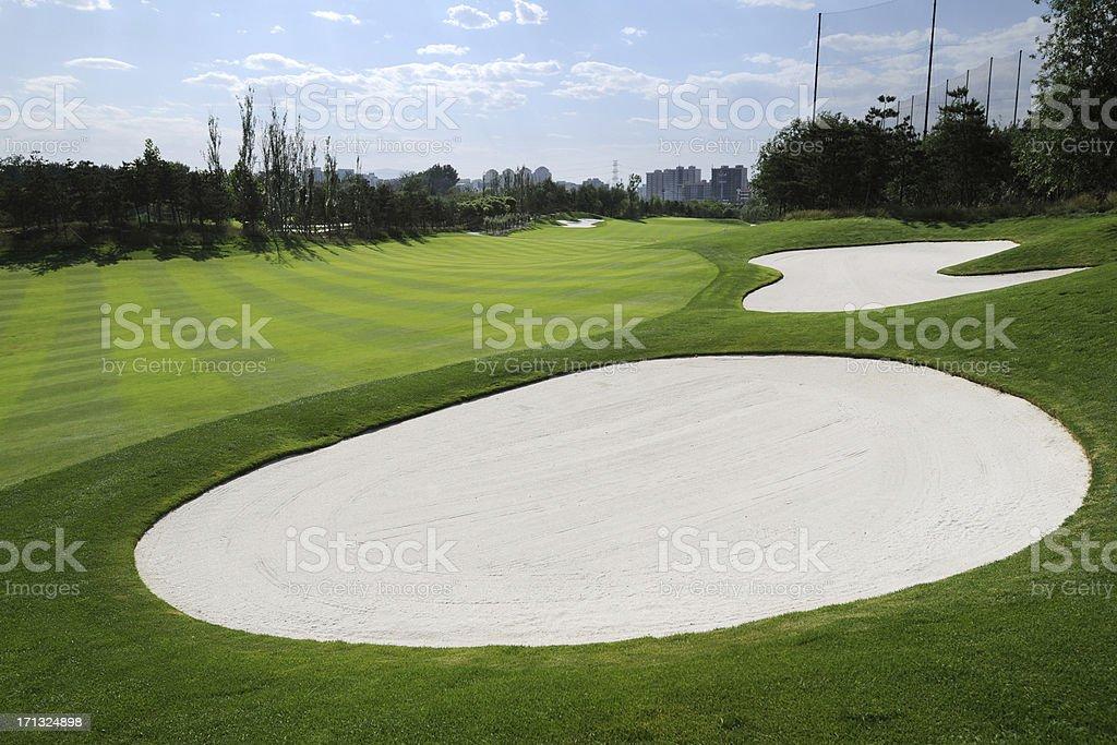 Golf Bunker - XLarge stock photo