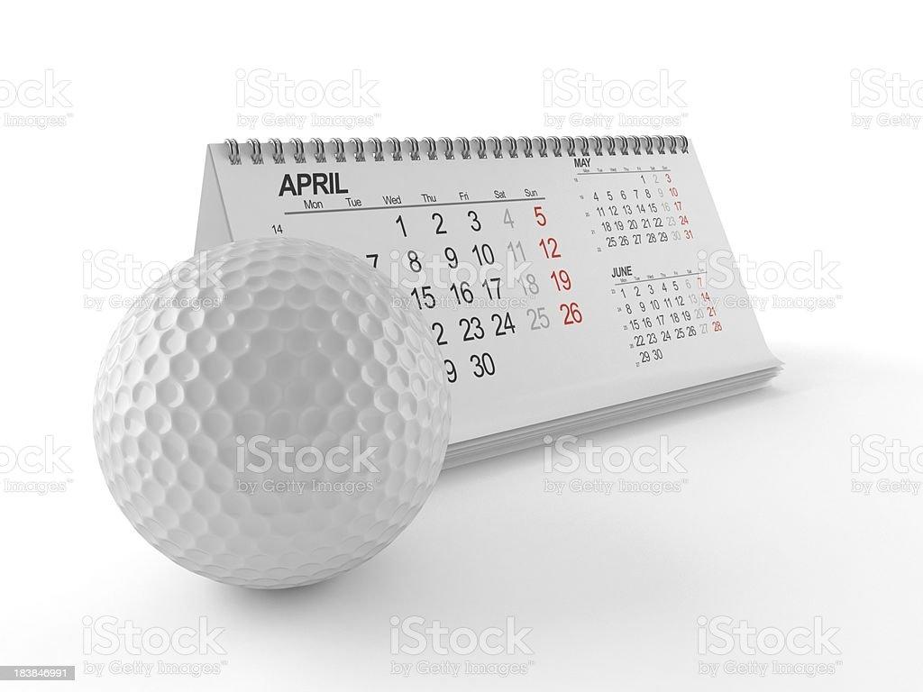 Golf calendar royalty-free stock photo