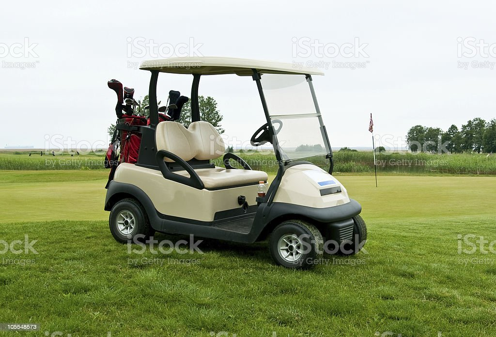 Golf car royalty-free stock photo