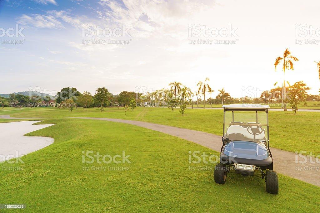 golf car royalty-free stock photo
