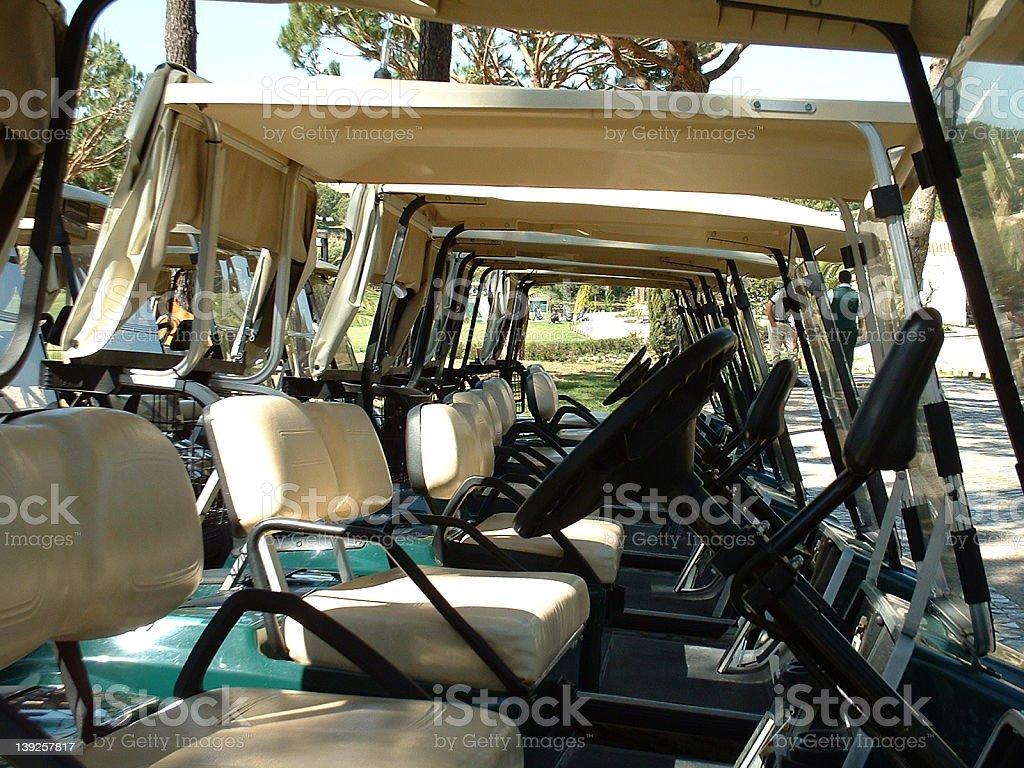 Golf cars royalty-free stock photo