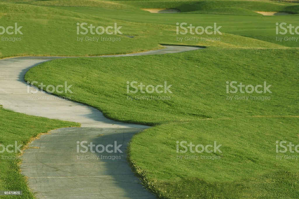 Golf Cart Path royalty-free stock photo