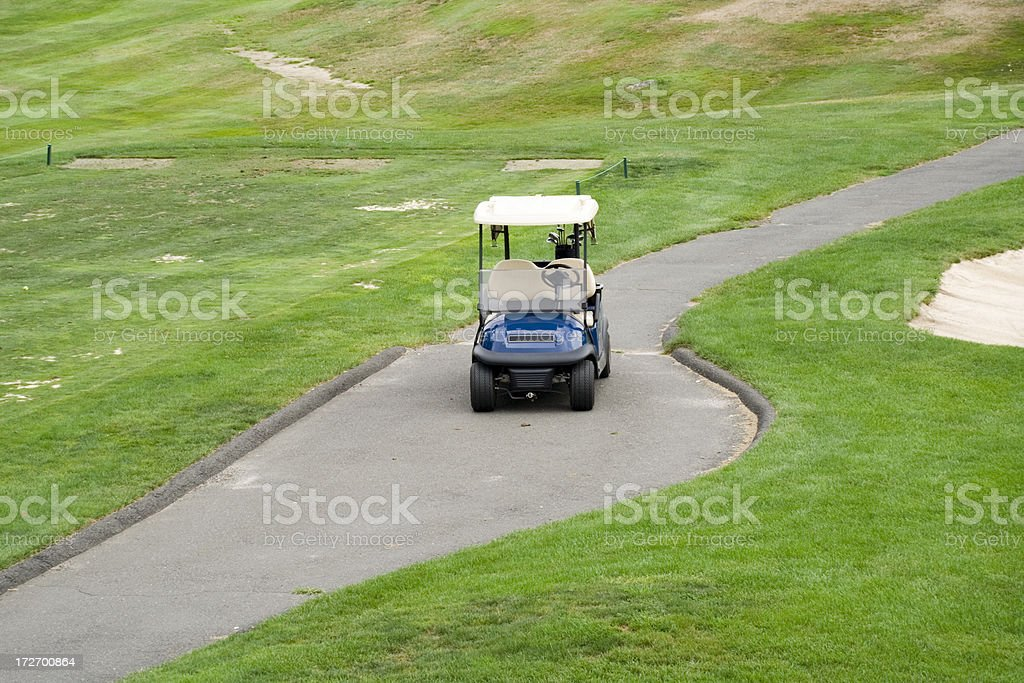 Golf Cart waiting for passengers royalty-free stock photo