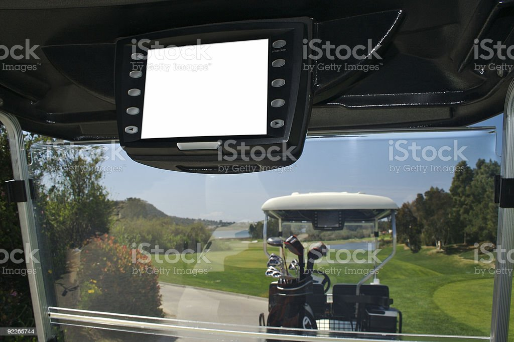 Golf Cart with Area for Message stock photo