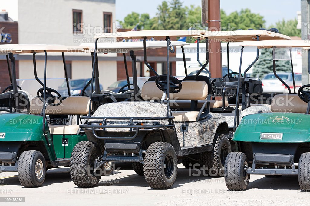 Golf Carts For Sale royalty-free stock photo