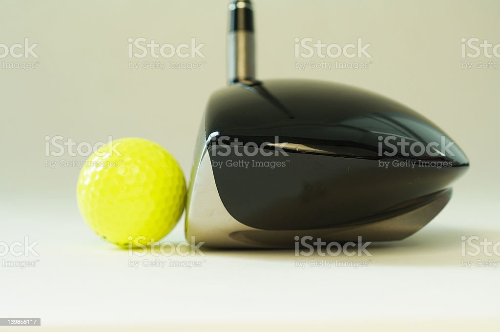 golf club and ball royalty-free stock photo