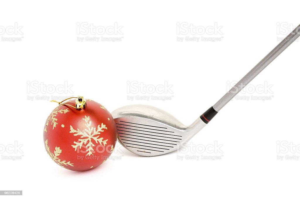 golf club and Christmas Ball stock photo