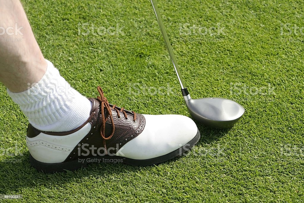 Golf Club And Shoe royalty-free stock photo