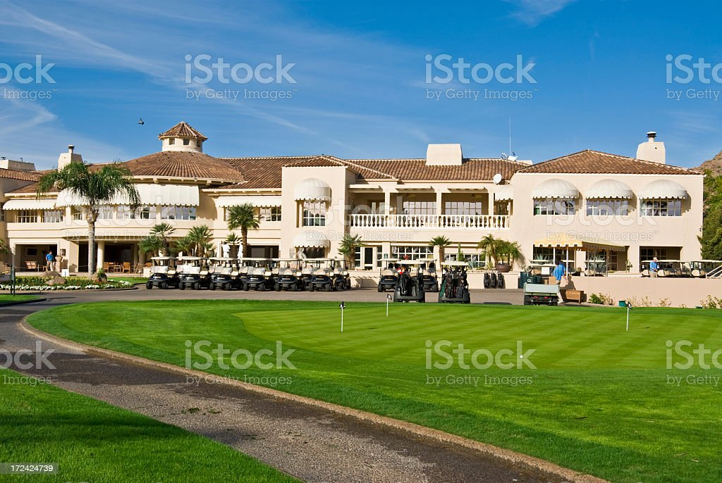 Golf Club House stock photo