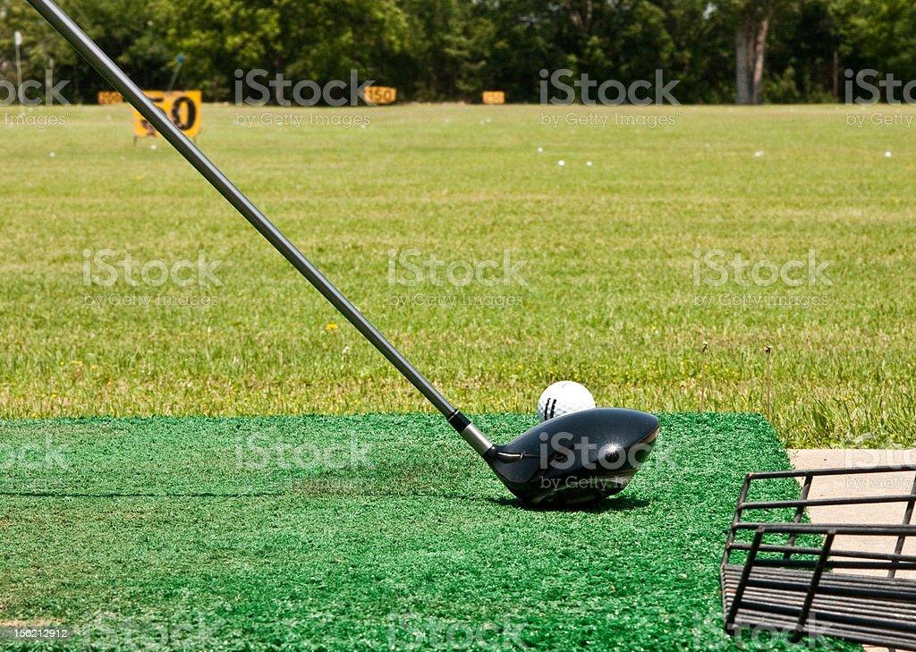 Golf Club on Driving Range royalty-free stock photo