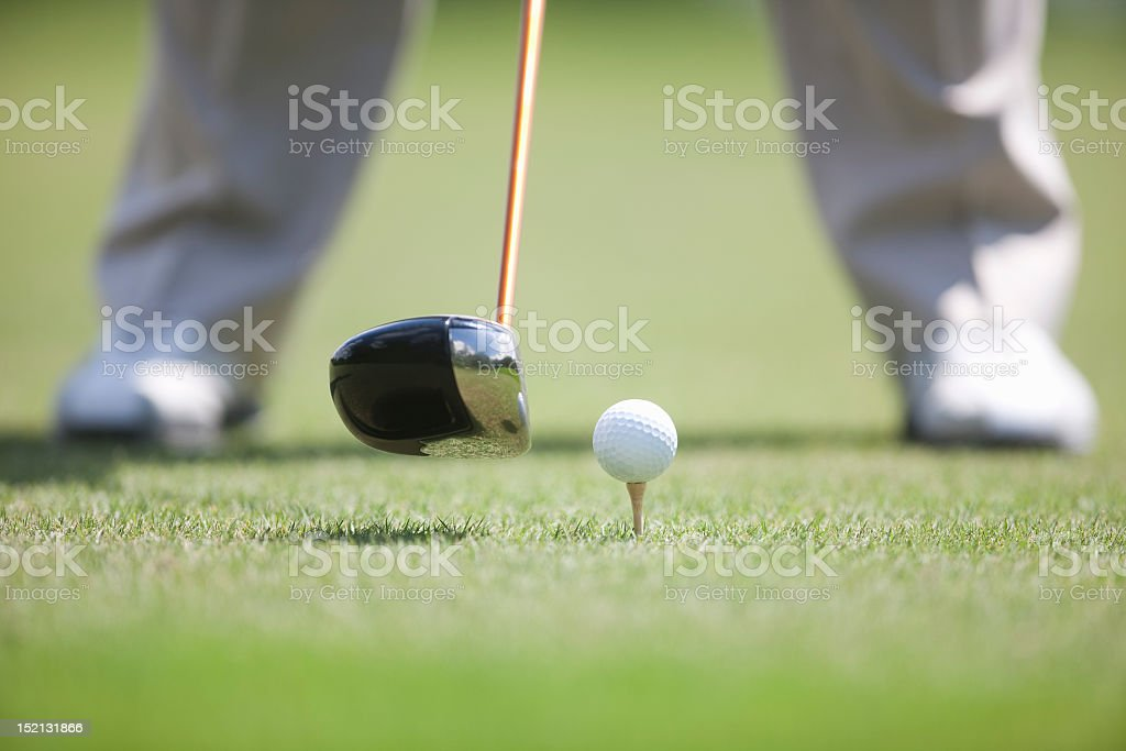 Golf Club Ready to Hit Ball off Tee royalty-free stock photo