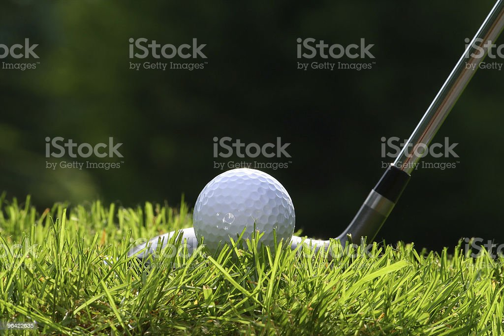 Golf club with ball stock photo