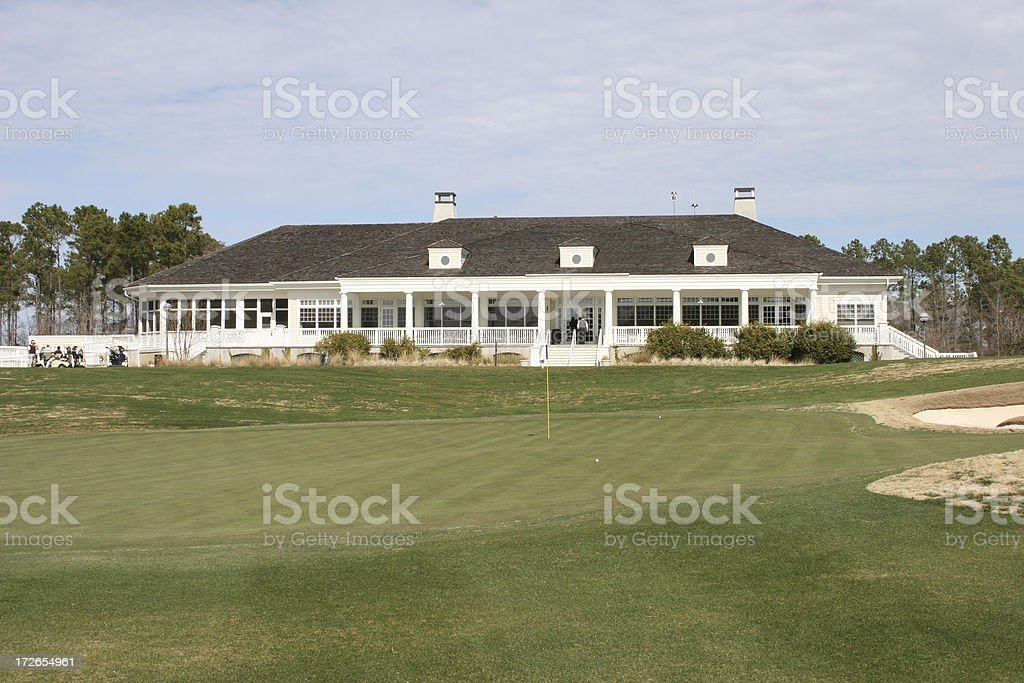 Golf Clubhouse stock photo